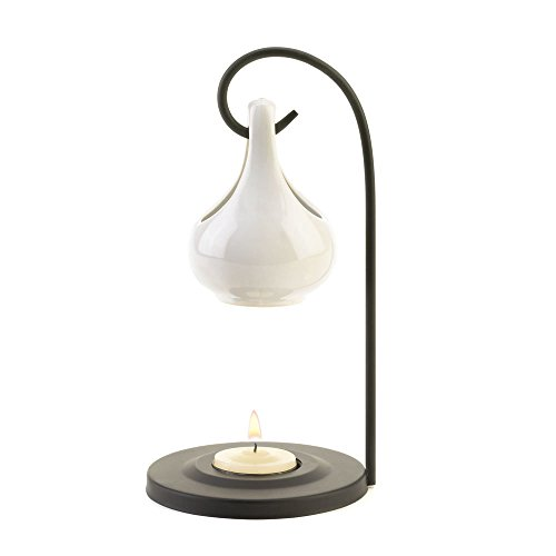 Koehler 15145 7.75 Inch White Tear Drop Oil Warmer
