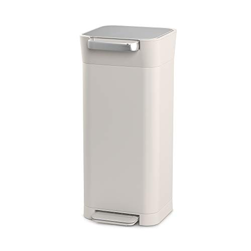 Joseph Joseph Intelligent Waste Titan Trash Can Compactor, 5 gallon/20 liter, Stone
