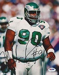 (William The Fridge Perry Signed Eagles 8x10 Photo - PSA/DNA Authentication - Autographed NFL Football Photos)