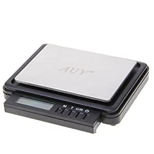 Accurate CRH-2105 2000g/ 0.1g and 1000g/ 0.05g Digital Electronic Scale with Concealable Backlit Display (Black)