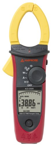 Amprobe ACD-53NAV 1000A AC Power Quality Clamp Meter (Power Quality Meter Clamp)