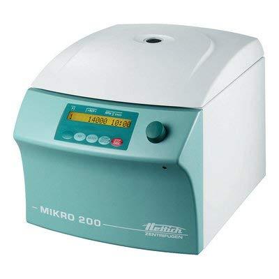 HETTICH INSTRUMENTS 2400-01 Mikro 200 Centrifuge, 110V-127V, 50-60 Hz, 260 mm H x 275 mm W x 344 mm D by HETTICH INSTRUMENTS