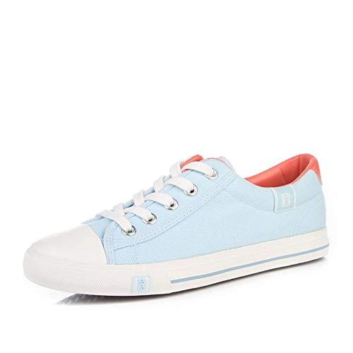 Hasag Zapatos de Lona Zapatos Deportivos Zapatos de Mujer Modelo par de Zapatos de Mujer Color Sólido Zapatos Casuales Blue