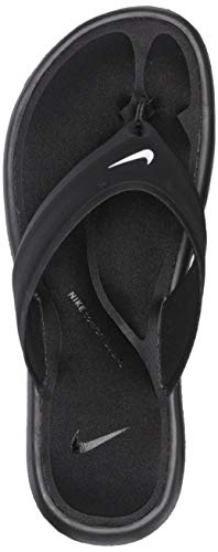 NIKE Women's Ultra Comfort Thong Athletic Sandal, White Black - Black, 8 B US