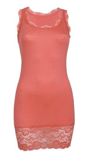 Sexy Spitzen Minikleid Long Top Tanktop Kleid Partykleid Dress in ...