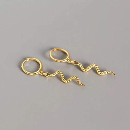 GEDASHU Earrings 925 Sterling Silver Earring Personality Snake Animal Ear Ring Ear Bone Drop Earring Wild Female Silver Ear Jewelry