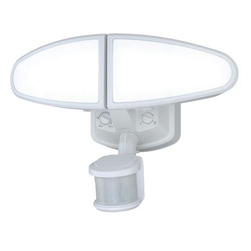 Vaxcel T0173 Kappa Smart Lighting Adjustable Low Level LED Motion Sensor Security Light, White Finish For Sale