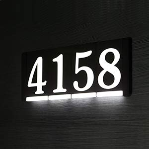 HOMIDEA Backlit Led House Numbers. Light Up House Numbers. Personalized Lighted Address Signs for Houses, Illuminated House Numbers, Address Light Numbers for Houses - Power Module (Required) ()