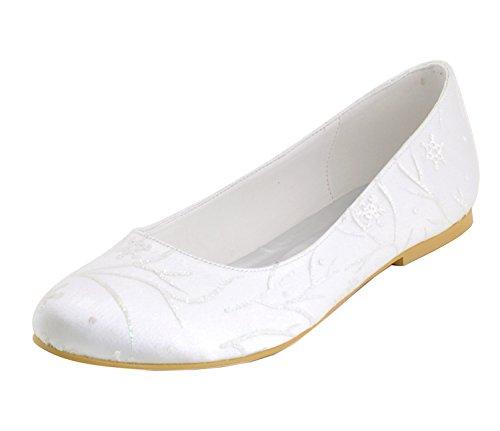 Minitoo , Damen Tanzschuhe Ivory-1cm Heel