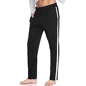 Hawiton Men's Pajama Pants Cotton Sleep Lounge Sleepwear Plaid Bottoms