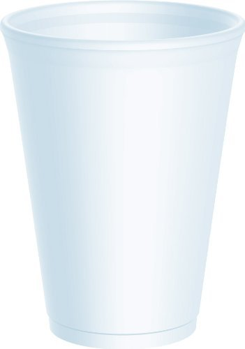 100 x Dart 12 Ounce Strong Foam Polystyrene Cups Disposable for Hot / Cold Drinks Tea Coffee - 12LX12 by Thali Outlet - Leeds Outlet Shopping