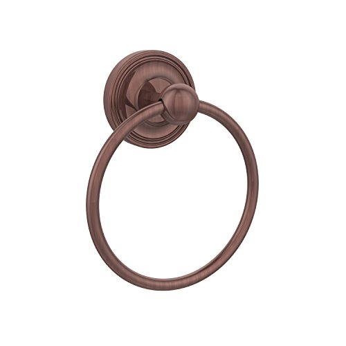 Allied Brass PR-16-CA Prestige Regal Collection Towel Ring, Antique Copper Allied Copper Towel Ring