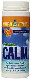 Orange 16 Ounce Powder - NATURAL VITALITY Orange Natural Calm Ionic Magnesium Citrate Powder, 8 OZ