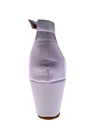 Lora Dora Womens Strappy Snake Skin Wedge Sandals White nSzYsgqBz
