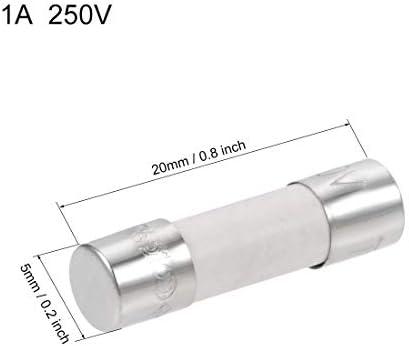 Set of 10 Fast Acting Glass Fuses 2cm 5x20mm 220V 250V 6.3A Aerzetix