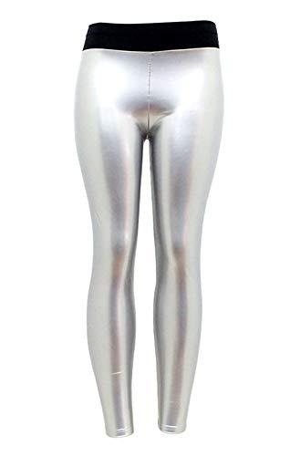 FEOYA Leggings Femme Fille Stretch Ultra Élastique PU Cuir Extensible Mercerisé, Pantalon Stretch Resculptant Sexy…