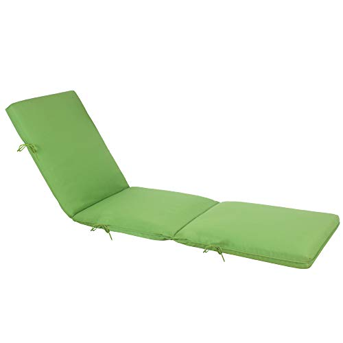 (QILLOWAY Indoor/Outdoor Chaise Lounge Cushion,Spring/Summer Seasonal Replacement Cushions. (Green))