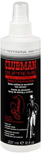 Clubman Supreme Non-Aerosol Styling & Grooming Spray 8 oz (Pack of 4)