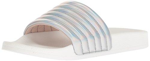 (Nine West Women's ISRAMIN Synthetic Slipper Silver/Multi 11 M US)