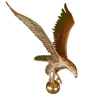 (Montague Metal Products Flagpole Eagle, 18-Inch, Gold)