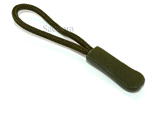 Pack of 10pcs Zipper Pulls (Military Green)
