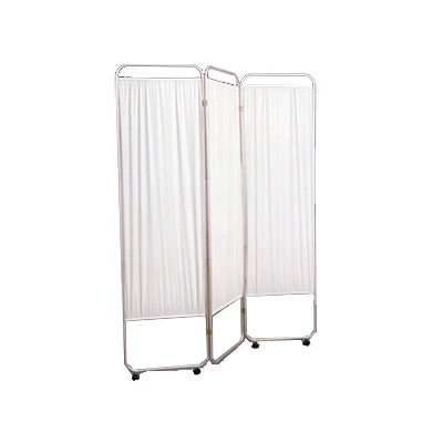 Standard Privacy Screen with Casters Color: Green