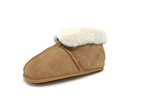 Women's Premium Genuine Australian Sheepskin Slippers Soft Sole Slip On Loafers - Hut Australian