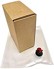 3L Wine Bag-in-Box Kits [Eco-Friendly Wine Bottle Alternative] - Easily Bottle, Dispense & Store Your Wines - Perfect for Home Winemakers (3L Bag-in-Box Kits, 6 Pack)