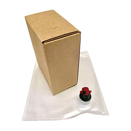 3L Wine Bag-In-Box Kits [Eco-Friendly Wine Bottle Alternative] - Easily Bottle, Dispense & Store Your Wines - Perfect For Home Winemakers (3L Bag-In-Box Kits, 6 - Wine Box Vintners