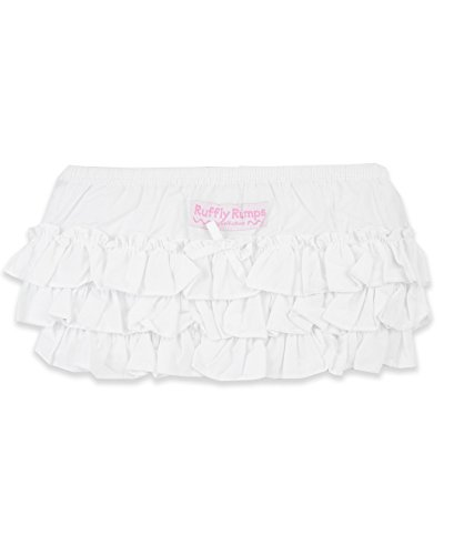 Ruffly Rumps Infant / Toddler Girls' Ruffled Baby Bloomers - White - - Bloomers Lace Ruffled