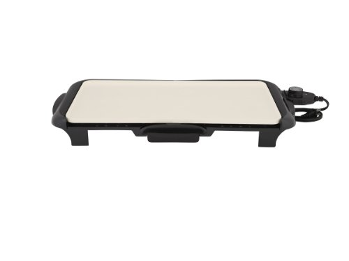 Oster Titanium Infused DuraCeramic Griddle with Warming Tray, Black/Crème (CKSTGRFM18W-TECO) by Oster (Image #15)