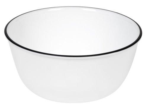 Black Soup Cereal Bowl (Corelle Livingware 28-Ounce Super Soup/Cereal Bowl, Classic Caf¿ Black Rim Only)