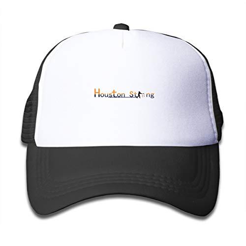 Banana King Houston Strong Toddler Baby Boy Girl Baseball Summer Mesh Cap Trucker Hat for Boys Girls Black]()