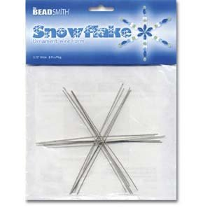 Metal Wire Snowflake Forms - Fun Craft Beading Project 4 1/2 Inches ()