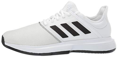adidas Men's Gamecourt, White/Black/Grey 6.5 M US by adidas (Image #5)