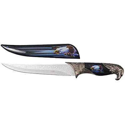 "13"" Eagle Dagger Fixed Blade Hunting Knife With Scabbard Collectors 4850-E1"