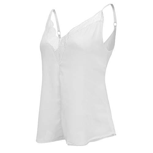 Mode Streifen Tank Crop Tops Frauen Sommer Weste Lose /Ärmellos V-Ausschnitt Bogen L/ässige T-Shirt Bluse