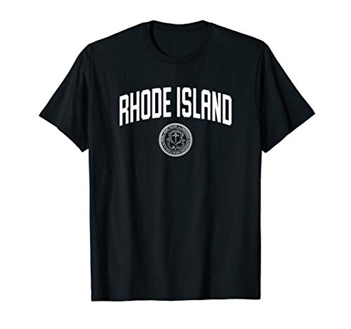 Rhode Island T-Shirt, State Seal Logo Sports College-Style T