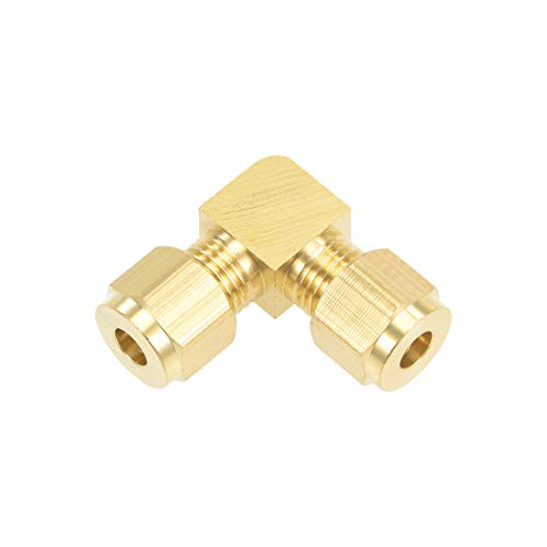 uxcell Brass Compression Tube Fitting 6mm OD 90 Degree Elbow Pipe Adapter for Water Garden Irrigation System
