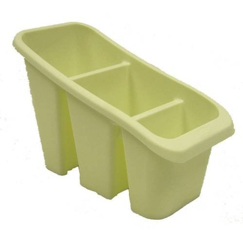 Cream Plastic Cutlery Holder Sink Tidy Drainer Organiser Rack Spoon Utensil Holder Whitefurze