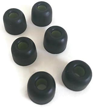 6 Black Memory foams Earbud Tips for NUFORCE BE Sport3 BE2 In-Ear Headphones