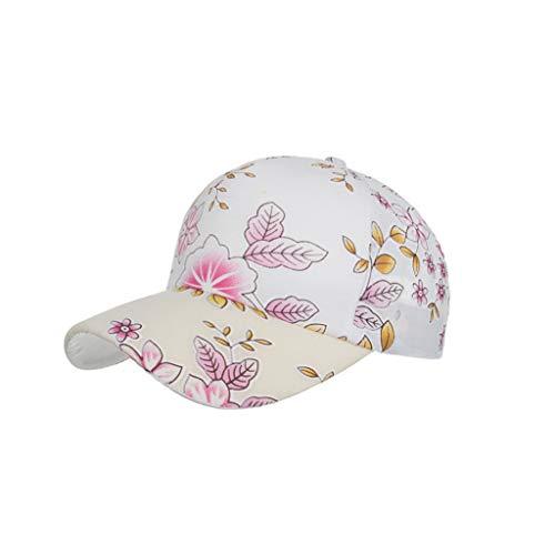 QIQIU Mens Flower Pattern Adjustable Plain Baseball Caps Embroidered Cotton Beach Sun Hat
