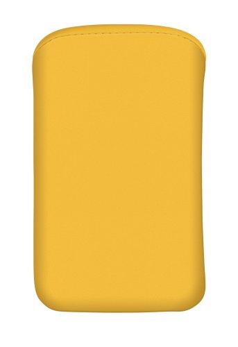 Cellux Mikrofaser Tasche Größe M (Apple iPhone 3G/3GS/4/4S, Galaxy S 3 mini, HTC Desire S, Nokia 620 und weitere Geräte) gelb