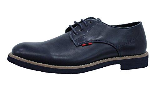 Scarpe uomo casual blu ecopelle calzature polacchine mans shoes eleganti