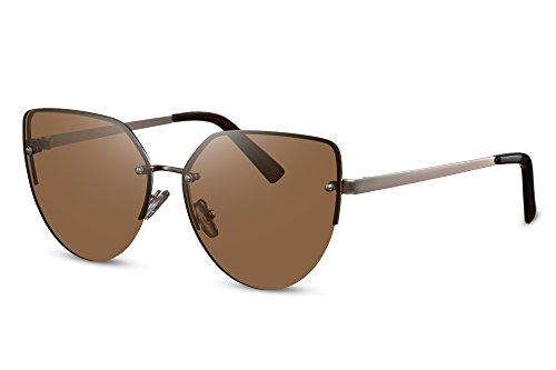 Modernas UV400 Coloreadas de Gato Lentes Ojo Sol Protección Cheapass Gafas de Marrón6 qBwSvZ