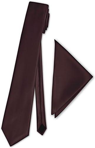 Geschenkkarton Einstecktuch 40 Farben zur Auswahl PABLO CASSINI Schmale d/ünne Satin Krawatte Fliegen