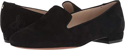 Sam Edelman Women's Jordy Loafer, Black Suede, 8.5 M US