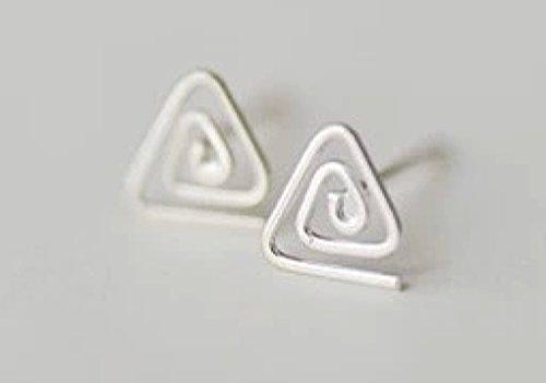 Celtic Silver Stud (Sterling Silver Triangle Celtic Knot Post Stud Earrings Women Men)