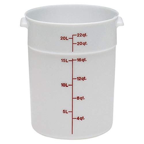 Cambro RFS22148 White Poly Round 22 Qt Storage Container