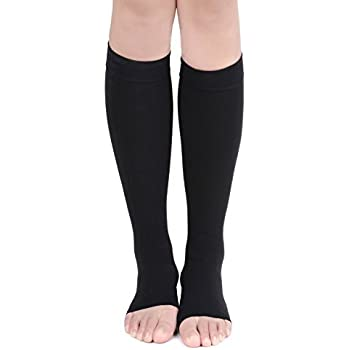 c2a5dfee5 2XL-3XL Assorted Pack 11 Wide Calf Plus Size Knee High 15-20mmHG 6-Pair  Sports Compression Socks Size For Men   Women